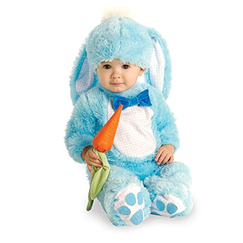 Bunny Halloween Costumes Baby (Rubie's Baby Handsome Lil Wabbit Costume, Blue, 6-12 Months)
