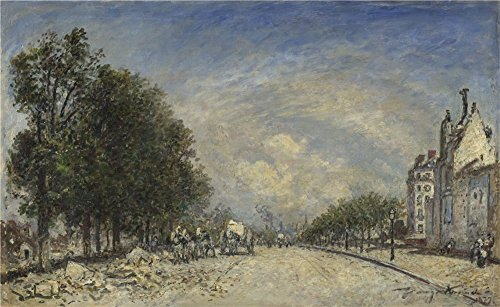 'Johan Barthold Jongkind The Boulevard De Port Royal Paris ' Oil Painting, 20 X 33 Inch / 51 X 83 Cm ,printed On Perfect Effect Canvas ,this Best Price Art Decorative Prints On Canvas Is Perfectly Suitalbe For Dining Room Gallery Art And Home Artwork And Gifts
