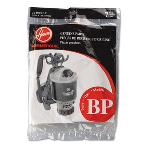 Hoover Shoulder Vac and Back Pack Type Bp Bags 7 Pk Part # 401000bp, 1ke2103000 (Royal Commercial Vacuum Parts compare prices)