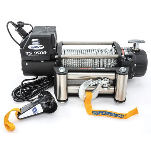 iger Shark 9.5, 12 VDC winch, 9,500 lb/4,309 kg capacity with roller fairlead (Superwinch 12vdc Electric Winch)
