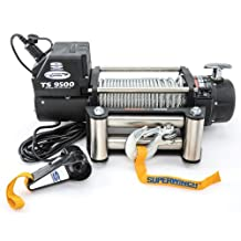 Superwinch 1595200 Tiger Shark 12V DC Winch with Roller Fairlead- 9,500 lbs. Capacity
