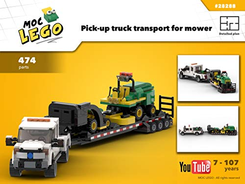 Pick-up with trailer for mower tractor (Instruction Only): MOC LEGO por Bryan Paquette