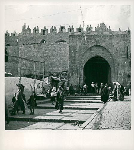 Vintage photo of Damascus Gate,Old Jerusalem is in Great.
