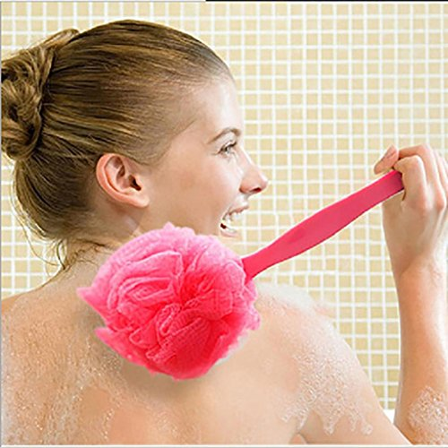 Sothread Bath Brush Back Scrubber with Long Handle Soft Body Massager Sponge Shower (Red). from Sothread