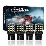 7440 led bulb - Antline 7443 7440 T20 992 7441 7444 W21W LED Bulbs White, 12-24V Super Bright 1000 Lumens Replacement for Backup Reverse Lights, Tail Brake Lights, Turn Signal Lights (Pack of 4)
