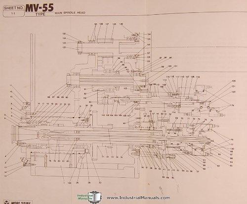 Mori Seiki Mv55 4540 4545 Type Vertical Machining Center Parts Rhamazon: Mori Seiki Wiring Diagrams At Gmaili.net