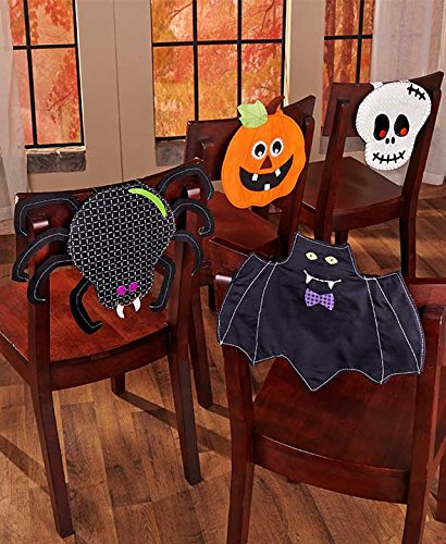 Set of 4 Halloween Chair Covers