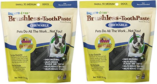 Toothpaste Chewable Brushless (Ark Naturals Breathless Brushless Toothpaste, Small To Medium Dogs, 12 Ounces (2PACK))