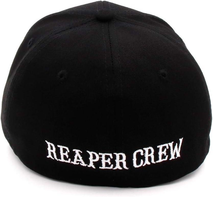 MYAQEP Sombreros Negros Hijos de la anarqu/ía para Reaper Crew Gorra de b/éisbol Ajustada Mujeres Hombres Letras Sombrero Bordado Sombrero de Hip Hop para Hombres