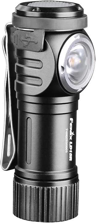 Fenix Flashlights, LD Series LED Flashlight, Model 15R, Right Angled Rechargeable, 500 Lumens, Black