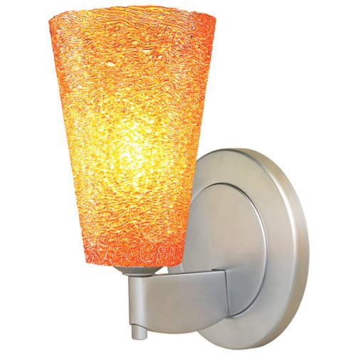 Bruck Lighting 104174mc - Bling 2 LED Wall Sconce - Matte Chrome Finish with Amber Glass Shade