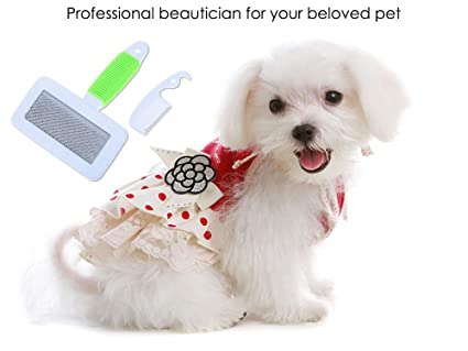 Amazoncom Pet Hair Fluffy Removal Comb Dog Cat Puppy Grooming Tool