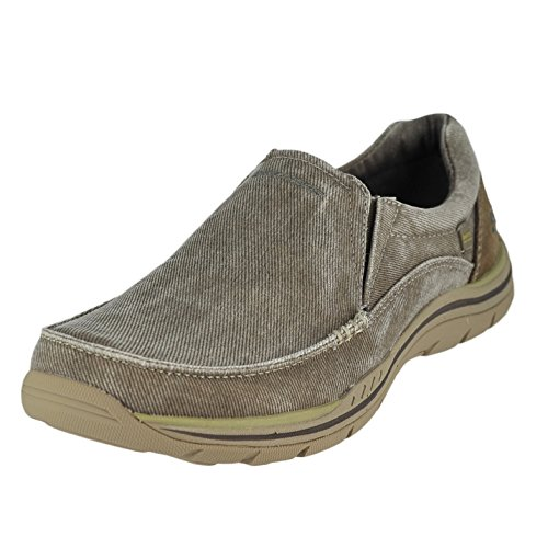 Skechers Men's Expected Avillo Relaxed-Fit Slip-On Loafer,Khaki,11 D US (Golf Loafers)