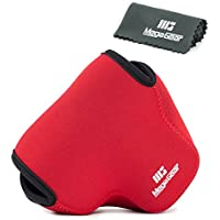 MegaGear Ultra Light Neoprene Camera Case Bag with Carabiner for Panasonic Lumix DMC-FZ300 Digital Camera (Red)