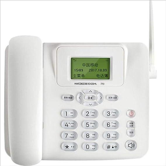 W&H Teléfono inalámbrico Multifunción Enchufe Tarjeta SIM Teléfono Fijo inalámbrico Oficina de Negocios Hogar Línea Fija: Amazon.es: Electrónica