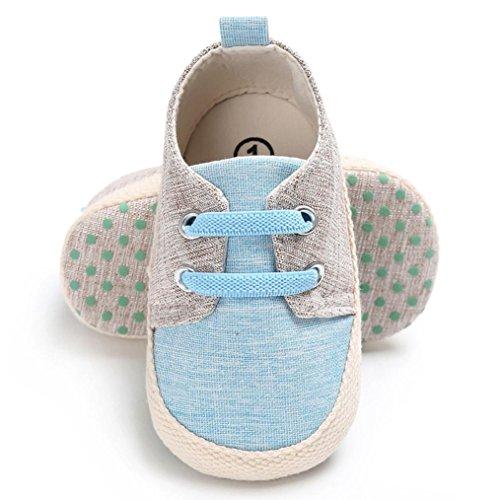 Hunpta Baby Mädchen Soft Sole Krippe Kleinkind Anti-Rutsch Schuhe Nette Bandage Sky Blue