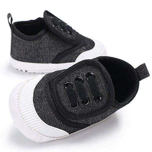 ~ Krabbelschuhe Sole Schuh Jungen Babyschuhe Soft Schuhe 0 Longra Sneakers Mädchen 18 Monate Neugeborene Gray Dark Baby für vOqUzg4O
