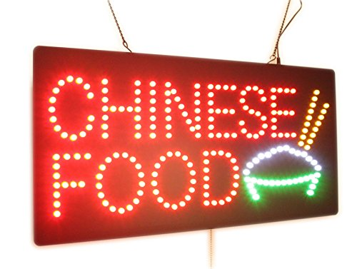 Chinese Food Sign, High Quality LED Open Sign, Store Sign, Business Sign, Windows Sign by Topking LED