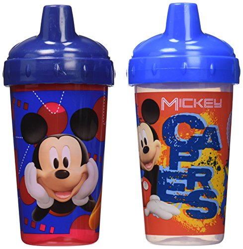 Disney Mickey Mouse Clubhouse Sippy Cups, Blue/Red, 2 Count