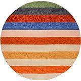 Unique Loom 3131502 Indo Gabbeh Round Oriental Area Rug, 6 #39;4 quot; x 6 #39;4 quot;, Multicolored