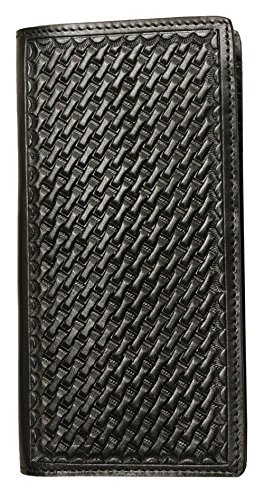 Ranger Belt Company Black Basket-Weave Pattern Wallet (C31)