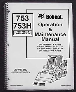 51uXHcClmDL._AC_UL320_SR262320_ amazon com bobcat 753, 753h skid steer loader complete shop