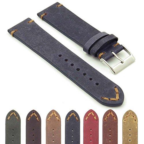 - DASSARI Tribute Extra Long Vintage Italian Leather Watch Strap