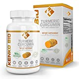 Organic Tumeric Curcumin with Bioperine 505 mg serving Highest Potency Available Premium Pain Relief & Joint Support w/ 95% Standardized Curcuminoids Non-GMO Gluten Free Capsules w/Black Pepper