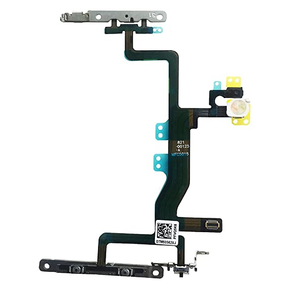 buy popular 0354d b3f30 Johncase New OEM Switch On/Off Power Button + Volume Control + Flash Light  + Mic + Mute Connector Flex Cable w/Bracket Replacement Part for iPhone 6s  ...