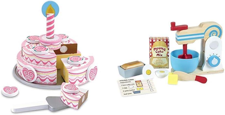 Melissa & Doug Triple - Layer Party Cake Bundle Make-A-Cake Mixer Set