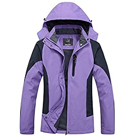 Wantdo Women's Hooded Outerwear Hiking Wind Shell Jacket Rain Coat