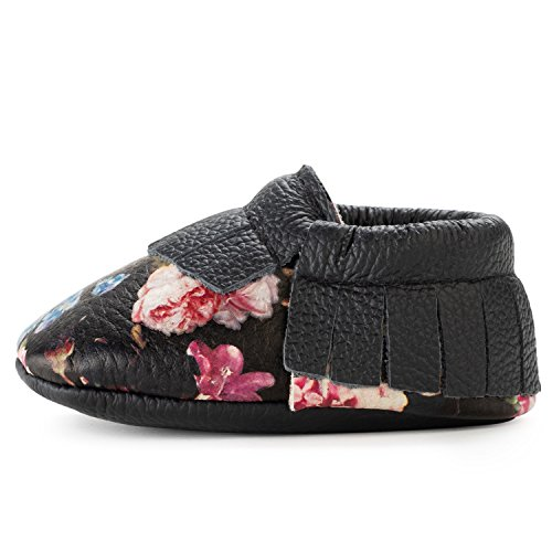 BirdRock Baby Moccasins - 30+ Styles for Boys & Girls! Every Pair Feeds a Child (US 9.5, Wildflower)