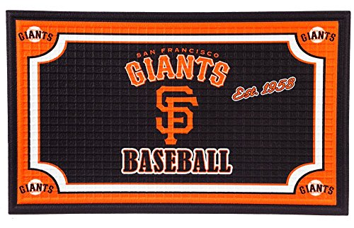 (Team Sports America San Francisco Giants Embossed Floor Mat, 18 x 30 inches)