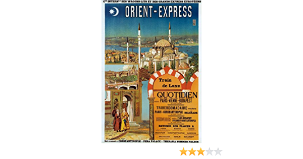 TX96 Vintage Orient Express French Railway Train Travel Poster Re-print A2//A3//A4
