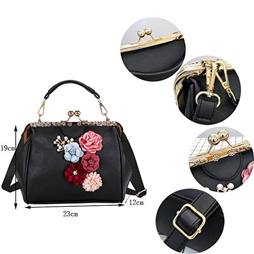 Crossbag Shoulder Purse Ladies Minimalist Leather Lock Kiss Diamonds Pt8 Retro Satchel Bag Pu Totes Handbag Bag Abuyall Chains Appliques w1fSq0P