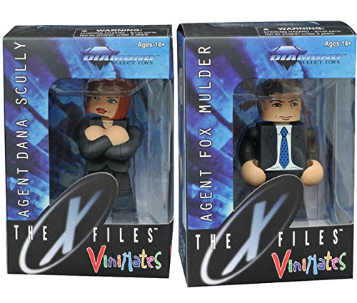 "The X-Files: Fox Mulder in Suit Vinimate 4"" Action Figure & Agent Dana Scully with Red Hair 2 Pack"