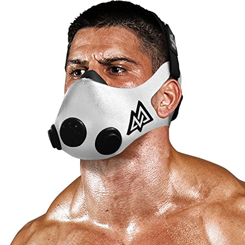 TRAININGMASK Training Mask 2.0 [White] Elevation Training Mask, Fitness Mask, Workout Mask, Running Mask, Breathing Mask, Resistance Mask, Elevation Mask, Cardio Mask, Endurance Mask For Fitness