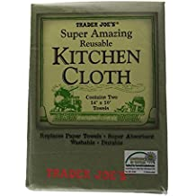 Trader Joes - Super Amazing Reusable Kitchen Cloth - 14 x 10 Inches - 2 Packs of 2 (Random)