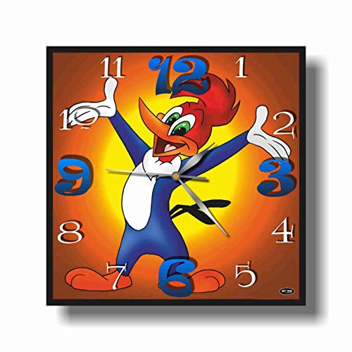 Art time production Woody Woodpecker 11.8'' Handmade Unique Wall Clock - Get Unique décor for Home or Office – Best Gift Ideas for Kids, Friends, Parents