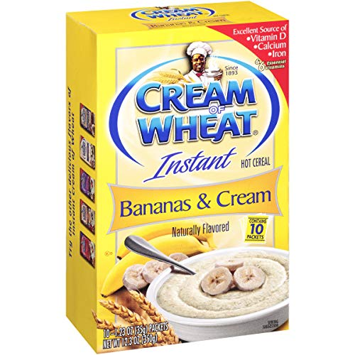 (Cream of Wheat Instant Hot Cereal, Bananas and Cream, 1.23 Ounce, 10 Packets)