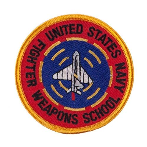 - Military Embroidered Patch - US Navy Fighter Weapons School - Iron-ON - New 3