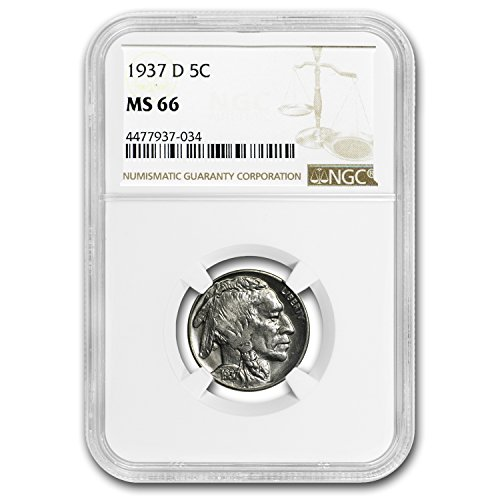1937 D Buffalo Nickel MS-66 NGC Nickel MS-66 NGC