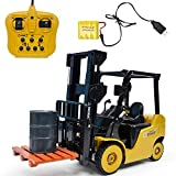 Remote Control Truck Forklift Toy Play Set, 11Channel Full Functional Professional RC Forklift Construction Toys Pretend Play Building Tool Kid's Early Education Toys Gift Kids 3-6 Years Old Boy