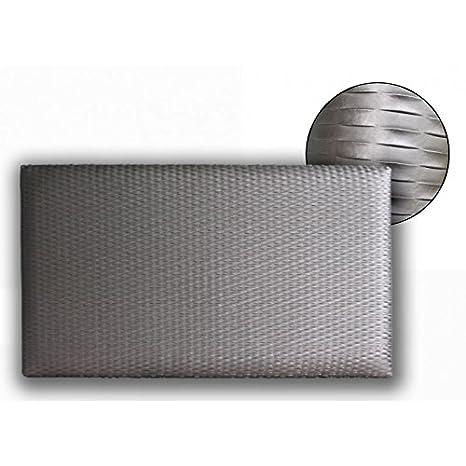 Ventadecolchones - Cabecero Modelo Lisse tapizado en Polipiel Córdoba Acero Medidas 106 x 70 cm (para Camas de 90 ó 105 cm): Amazon.es: Hogar
