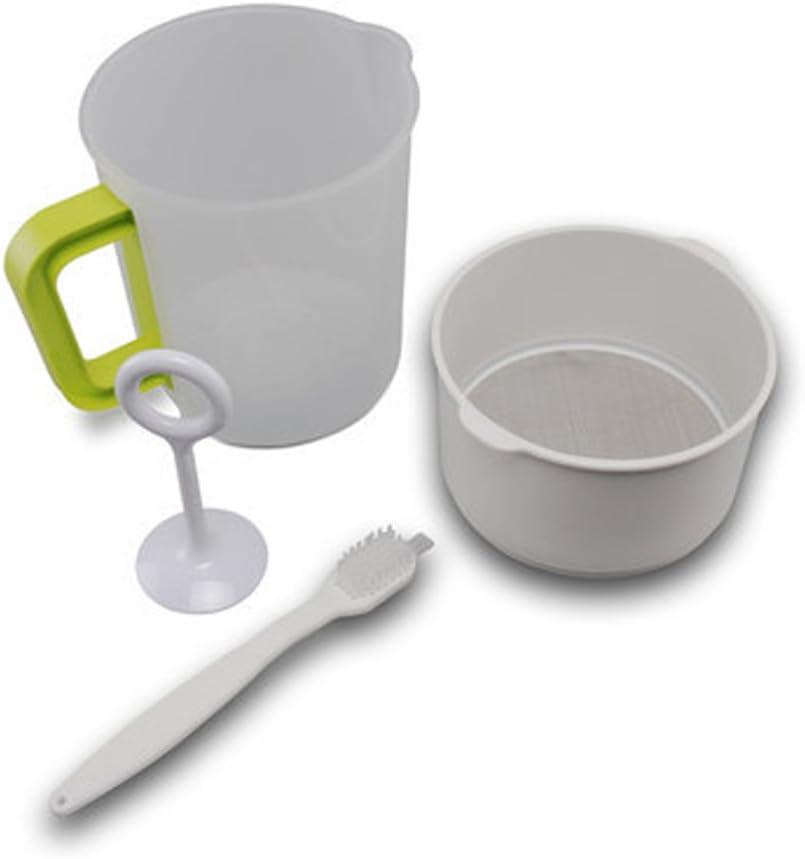 BESTONZON 4PCS 1.5L Plastic Soy Milk Maker Filter Set Soy Milk Strainer Nut Milk Bag Alternative Including Filter Cup Rod Brush