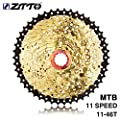 Huldaqueen ZTTO 11 Speed Cassette 11-46T Compatible Road Bike Shimano Sram System High Tensile Steel Sprockets Folding Silver Gear