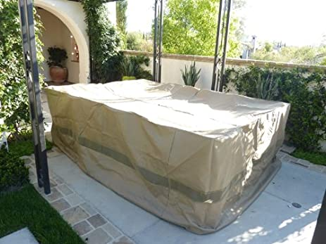 Patio Set Covers 120u0026quot;L X 86u0026quot;W Fits Rectangular And Oval Shape  Table