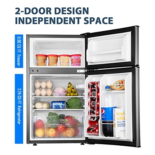 Euhomy Mini Fridge with Freezer