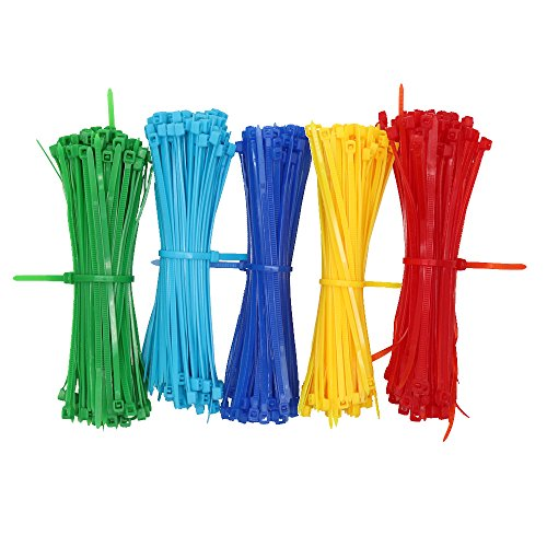 Karcy 500Pcs 4-Inch Self-locking Type Assorted Colors Nylon Cable Ties Wire Ties Used in Indoor& Outdoor and Creativity by Karcy