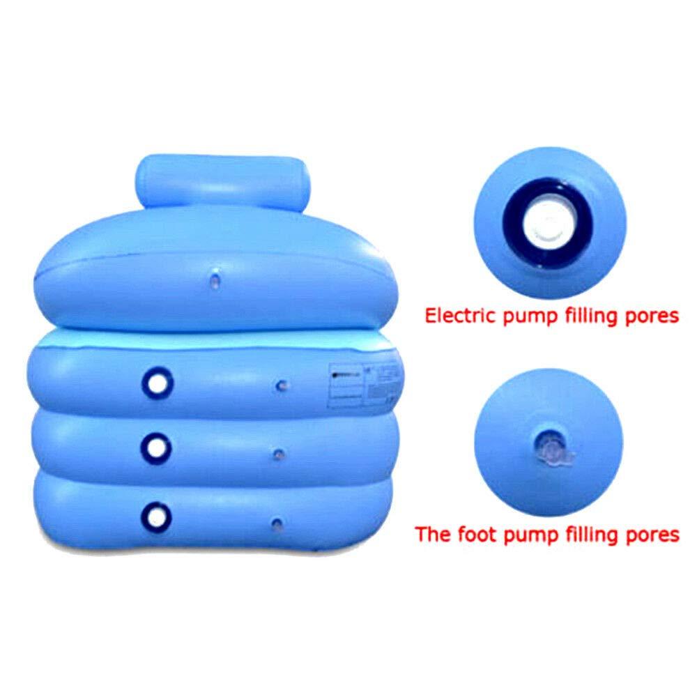 ba/ñera plegable spa inflable inflable piscina inflable para ni/ños ba/ñera de hidromasaje para el hogar Ba/ñera port/átil de PVC para adultos SENDERPICK